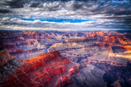 Grand Canyon - image, national, clouds, nice, splendor, scenario, paisage, USA, paysage, mountainscape, sky, hotography, cool, mountains, awesome, Arizona, landscape, scenic, panoramic view, beautiful, canyon, valley, picture, photography, parks, Grand Canyon, scenery, photo, amazing, national parks, view, paisagem, nature, natural, scene