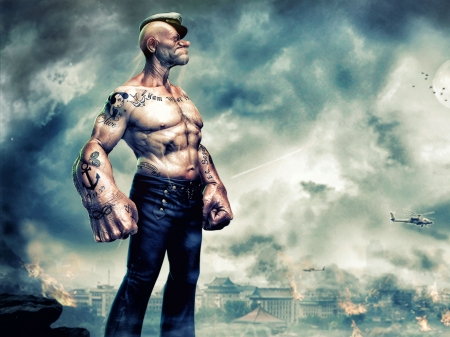 Popeye - Fantasy & Abstract Background Wallpapers on ...