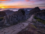 High Mountain Path at Sunrise