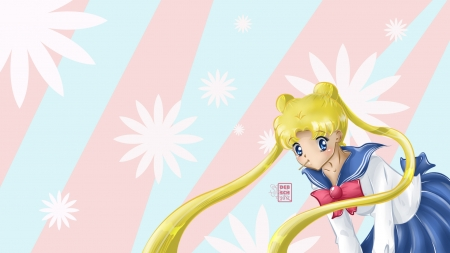 Usagi - Sailor Moon - School Uniform, Japan, Anime, Sailor Moon, Usagi, Digital Art