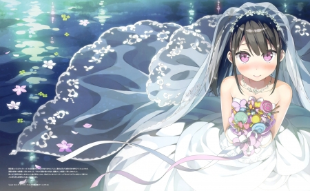 Anime Bride - cg, art, bride, Anime