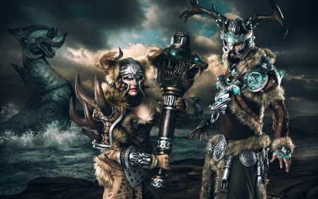 guild wars-vikings - guild, man, wars, woman, viking