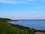 Ocean Shoreline View in Maine