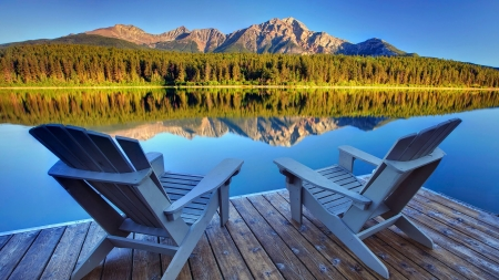 Best seat in the house - Patricia Lake, Jasper National Park, Alberta, Canada - Jasper National Park, Patricia Lake, Canada, Alberta, Seats