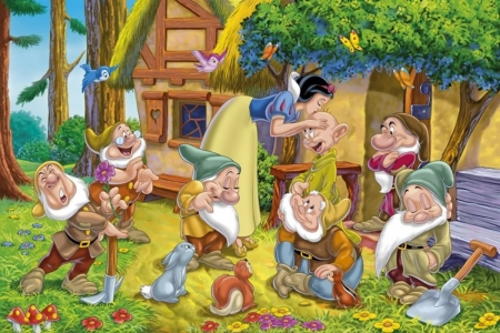 Snow White And The Seven Dwarfs Fantasy Abstract
