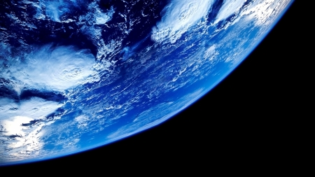 Earth seen from below in space - panorama, cool, blue, black, magic nights, blue dreams, awesome, nights, picture, Earth, 1920x1080, beautiful, photo, planets, amazing, universe, scenic, sea, nice, clouds, space, image, panoramic view, scenery, view, ocean, colors, scenario, scene, photography