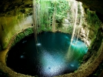 Cenote Waterfall Cave in Mexico