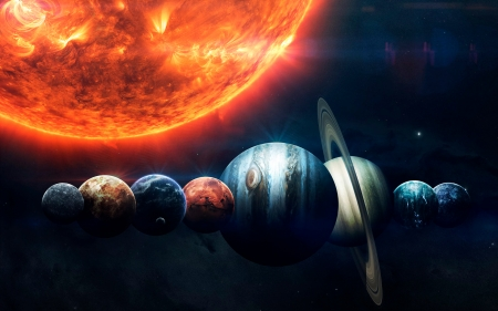 Eight and One - stars, planets, 3d, space, Vadim Sadovski, galaxies