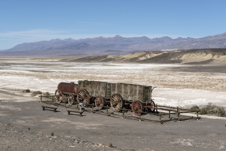 Borax Wagons in Death Valley - Death Valley, Historic Wagons, Nature, Deserts