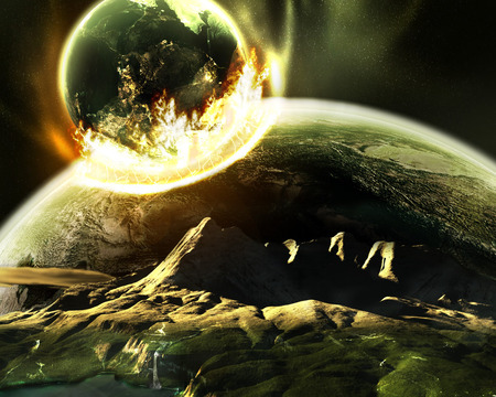 The Arrival - destruction, comet, 2012, asteroid, moon, end of the world, liquitech, global warming, end, arrival, earth, armagedon