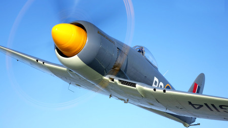 Hawker Sea Fury - hawker sea fury, Entropy, wallpaper, HD, royal navy, british fighter