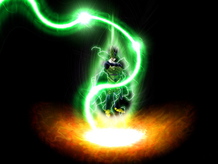 Cell Powerup Dragonball Anime Background Wallpapers On Desktop