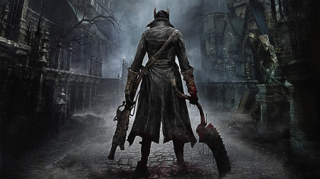 bloodborne - bloodborne, blade, warrior, gun