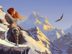 Female Combatant on the Snow Mountain