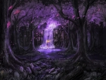 Fairy in Purple Fantasy Forest