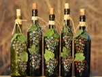 Dazzling Wine Bottle Art
