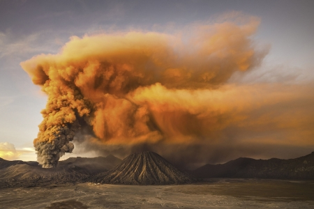 Mount Bromo - Indonesia, Volcano, Mountain, Java, Cinder cone, Nature