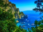 View of beautiful Capri