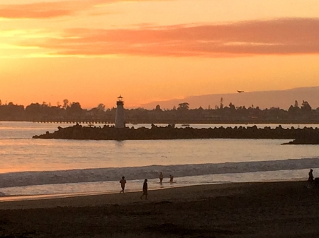 Santa Cruz Sunset - Santa Cruz, California, Monterey Bay, Sunset, Coast