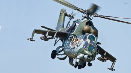 Mil MI-24 - MI-24, Mil, Military, Helicopter, War