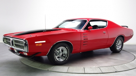 1972 Dodge Charger Rallye 340 Magnum - 340, Red, Muscle, Charger, Rallye, Old-Timer, Car, Magnum, Dodge