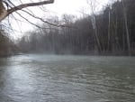 Misty Mohican River in Spring