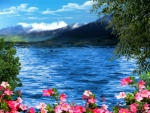 Flowery Blue Lake