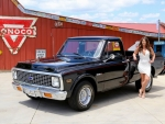 1972 Chevy C10 Pick Up and Girl
