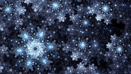 Stars - texture, stars, christmas, blue, black, craciun, luminos, snowflake