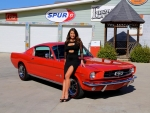1965 Ford Mustang Fastback 289 A Code and Girl