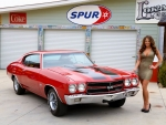 1970 Chevrolet Chevelle SS 454 and Girl
