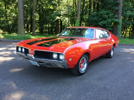 1969 Oldsmobile 442 350 - Old-Timer, Oldsmobile, Red, 350, Car, Muscle, 442