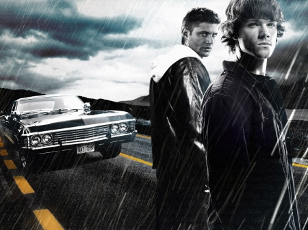 The Winchester Brothers - brothers, Supernatural, car, Winchesters, Sam, Dean