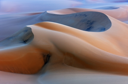 Sand dunes in the desert - Desert, Dunes, Sand, Nature