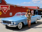 1960 Oldsmobile Super 88 Convertible National Winner 394 and Girl
