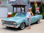 1964 Chevy Malibu SS Convertible 327 and Girl