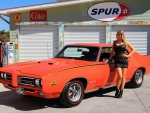 1969 Pontiac GTO Judge 400 Ram Air III Factory Air and Girl