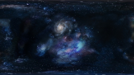 Galactic Space Stars and the Universe - Galaxies, Cosmos, Universe, Space, Clouds, Stars