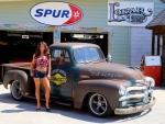 1954 Chevy 3100 Rat Rod Fuel Injected V8 and Girl