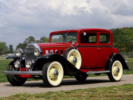 Buick Series 80 Victoria Coupe 1932 - Old-Timer, Coupe, Red, Victoria, Buick, Car, Series 80