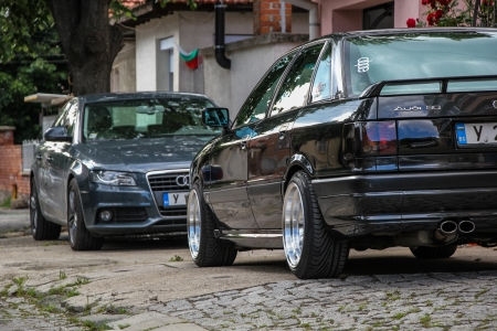 Audi 80 and Audi A4 - audimafia, sportedition, b3, stance, deepdish, audia4, audib8, audi, wide, audi80, b8, audib3, yambol, bulgaria