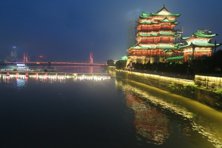 Pavilion of Prince Teng - China - cutyscapes, Architrcture, China, bridge, Gan river