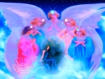 Mystic woman angels