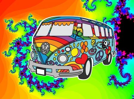 Volkswagen Trippy Hippie Bus