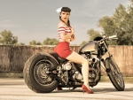 Miss-Gina On A Harley-Davidson