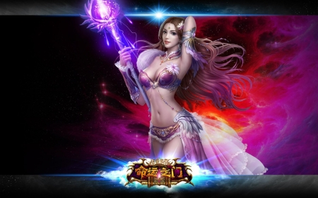 Fantasy girl - frumusete, fantasy, luminos, girl, sorceress, game
