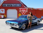 1967 Oldsmobile Cutlass 442 Clone 425 Engine and Girl