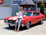 1972 Chevrolet Malibu 350 Chevelle SS Clone and Girl