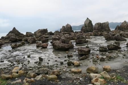Hashigui-iwa rocks - rocks, Japan, stones, Yoshino-Kumano National Park
