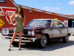 1968 Plymouth Road Runner and Girl